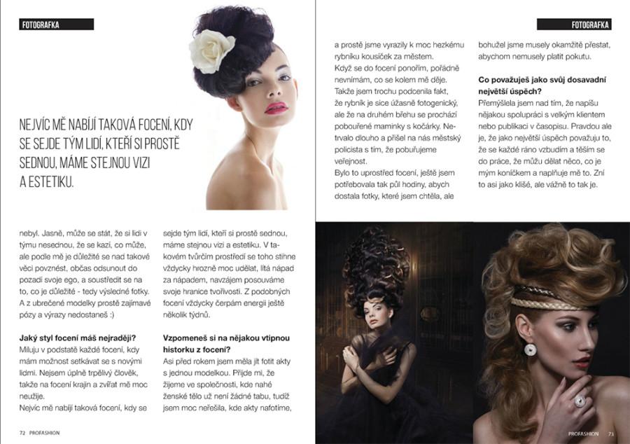 rozhovor profashion módní portrét módní fotograf fotograf praha  zazitky